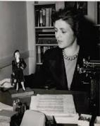 Mary C. McCall Jr with Maisie, 1942